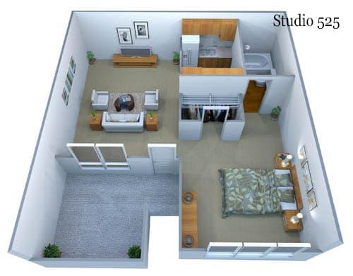 Studio 525 Floor Plan