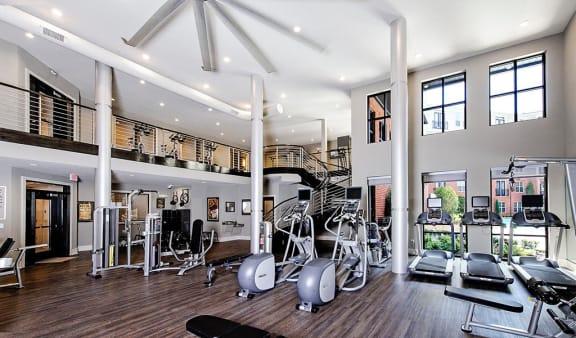 2-story fitness center at Riverwood apartments, GA 30339