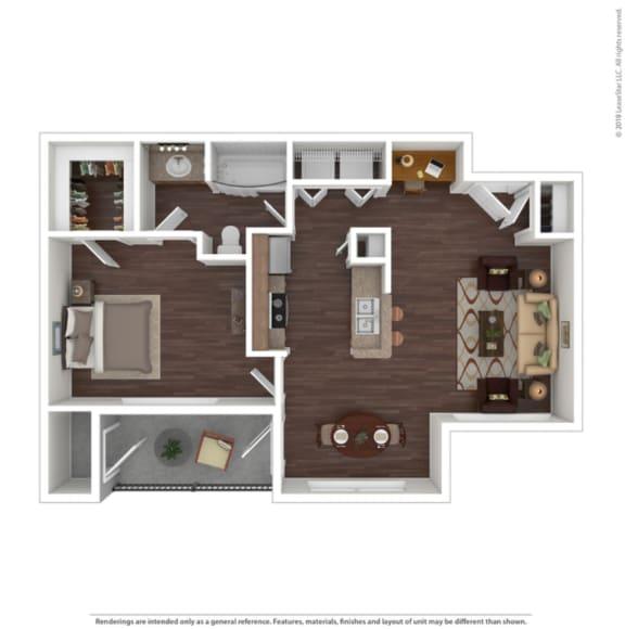 Floor Plan  1 Bedroom | 1 Bathroom