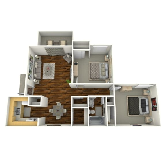 Floor Plan  2 Bedroom | 1 Bathroom
