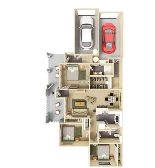 Floor Plan  3 Bedroom   2 Bathroom