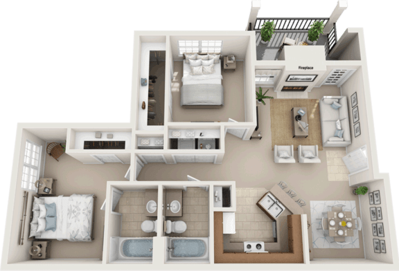 Floor Plan  Affordable apartments in Fort Worth, TX