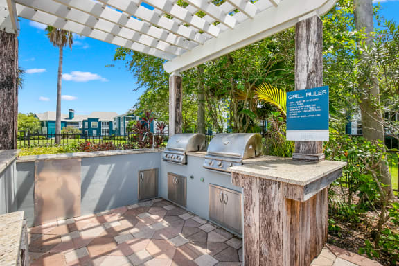Grilling Area At The Pool Sundeck