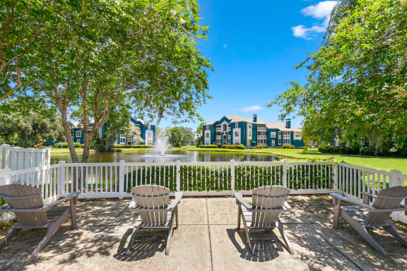 Sundeck Overlooking The Pond & Fountain With A