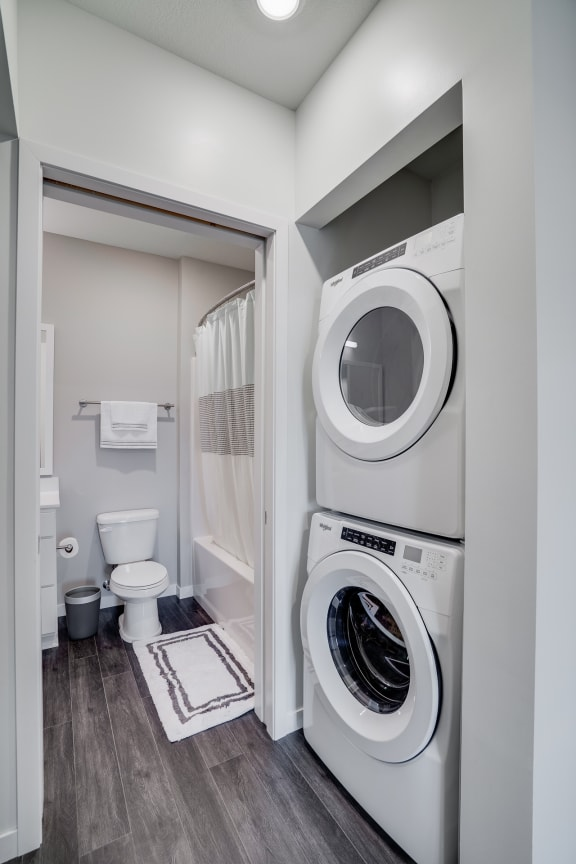 Walk-In Closet with Washer and Dryer