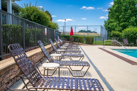 Pool Lounge Chairs On The Sundeck