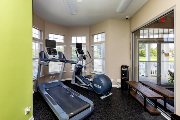 Elliptical Machines at the Fitness Center