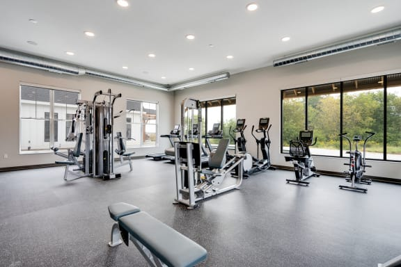 Large Gym with Weight Training Equipment
