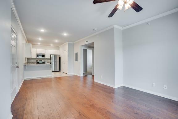 Hardwood Floors Throughout Living Room