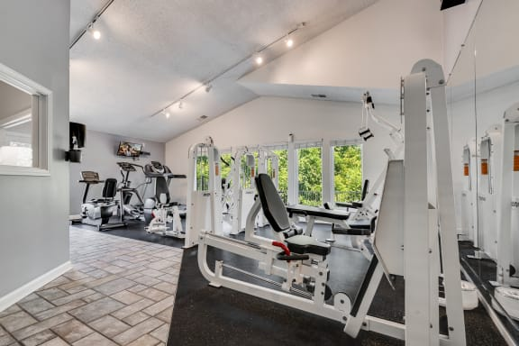 On-Premise Fitness Center With Vaulted Ceilings
