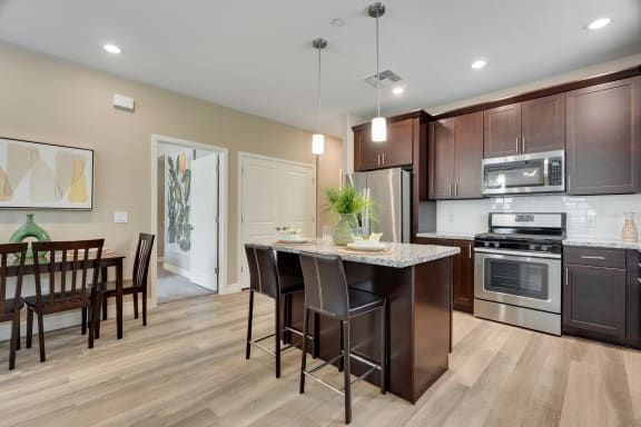 Breakfast bar at Bella Victoria Apartments in Mesa Arizona January 2021