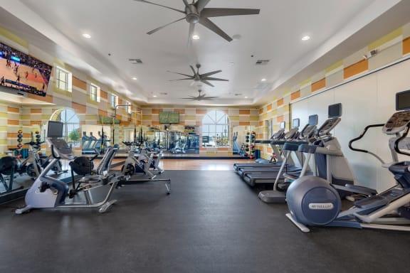 Fitness Center at Bella Victoria Apartments in Mesa Arizona January 2021