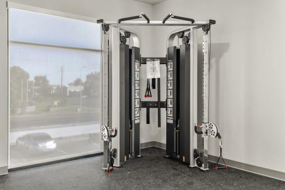 Fitness center at V on Broadway Apartments in Tempe AZ November 2020 (2)