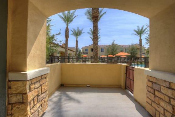 Patio at Bella Victoria Apartments in Mesa Arizona January 2021 2