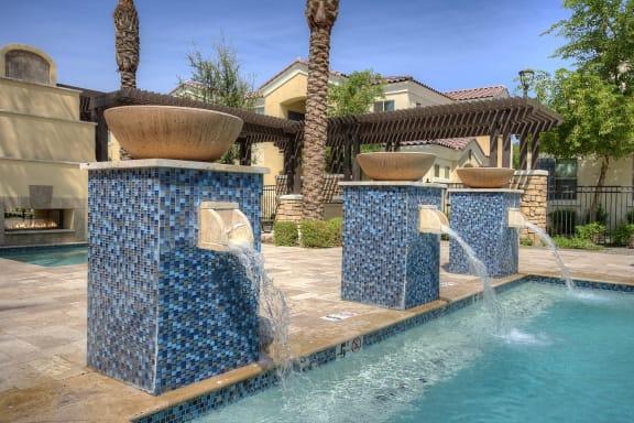 Pool Area at Bella Victoria Apartments in Mesa Arizona January 2021