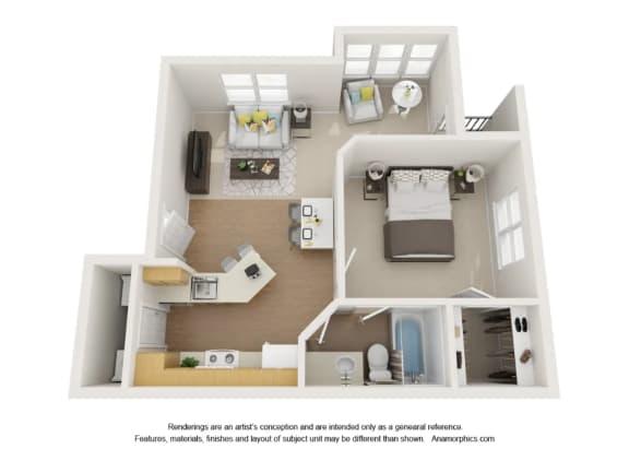Alcove 1x1 Apartment