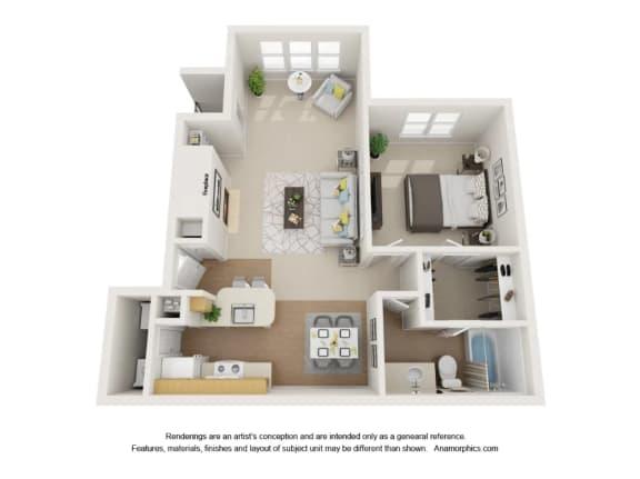 Retreat 1x1 Apartment