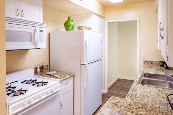 one bedroom kitchen and pantry at Country Village Apartments, Mira Loma, CA, 91752