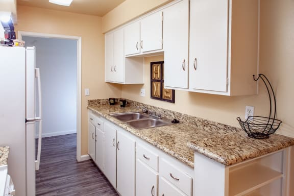 one bedroom kitchen sink at Country Village Apartments, Mira Loma, CA