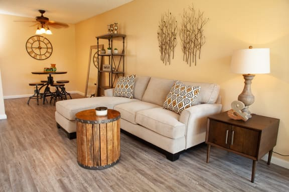 one bedroom living room at Country Village Apartments, California, 91752