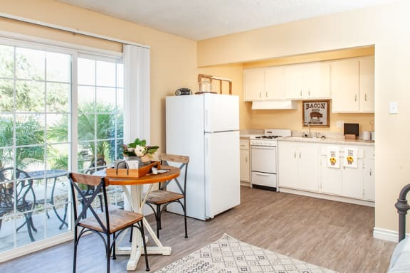 Studio Kitchen at Country Village Apartments, California