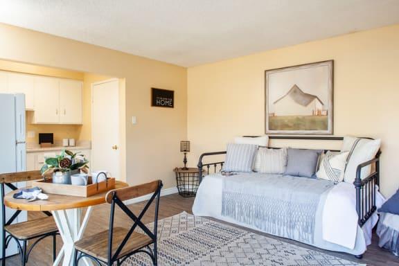 Studio Floor Plan at Country Village Apartments, Mira Loma