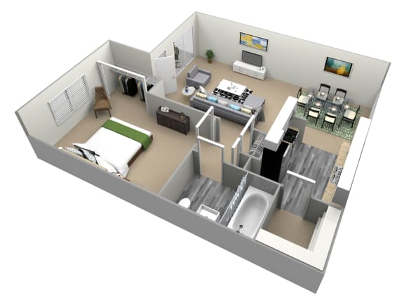 Floor Plan  Torrey Pines Floor Plan at Country Village Apartments, Jurupa Valley, CA, 91752