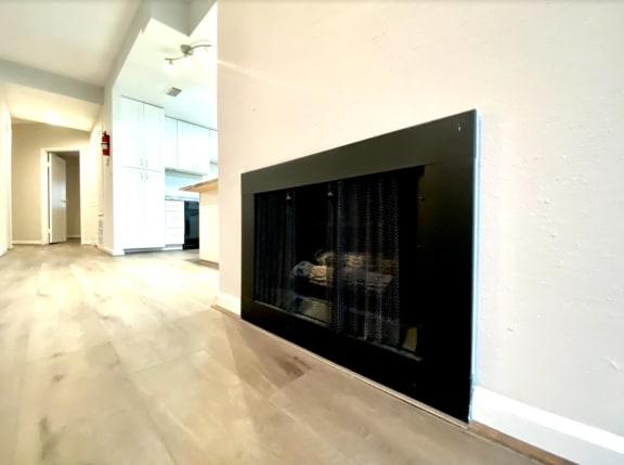 Fireplace at Augusta Court Apartments, Houston, Texas