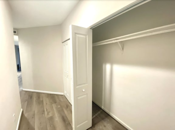 Hallway Storage at Augusta Court Apartments, Houston, Texas