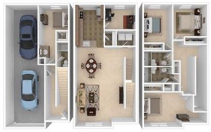 Floor Plan  Southside Four Bed
