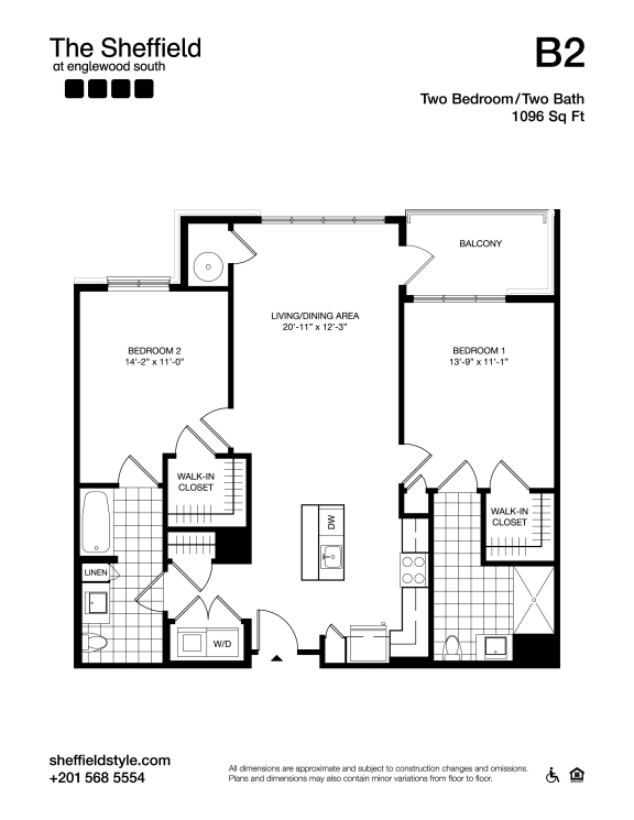 B2 Floor Plan at The Sheffield at Englewood South