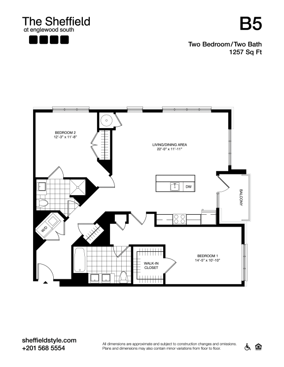 B5 Floor Plan at The Sheffield at Englewood South