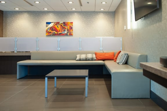Social Lounge Area at 190 Smith Luxury Apartment Suites, Winnipeg, MB