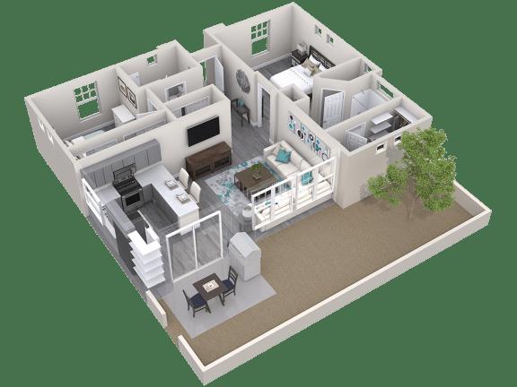 The Retreat Floor Plan at Avilla Paseo, Phoenix