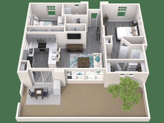 The Retreat Floor Plan at Avilla Paseo, Arizona