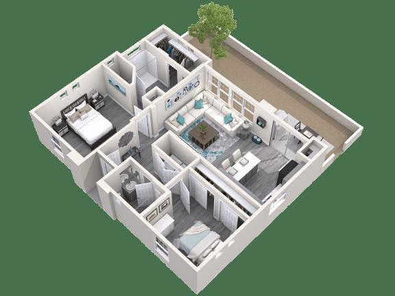 The Retreat Floor Plan at Avilla Paseo, Arizona, 85027