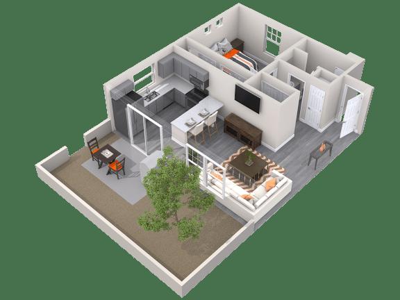 The Alcove Floor Plan at Avilla Paseo, Phoenix, AZ