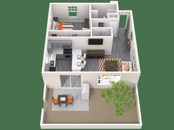 The Alcove Floor Plan at Avilla Paseo, Phoenix, 85027
