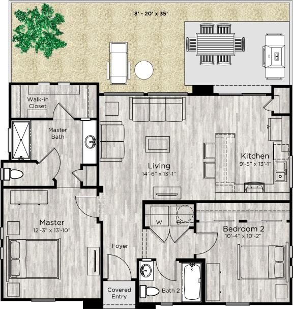 The Retreat Floor Plan at Avilla Reserve, Justin