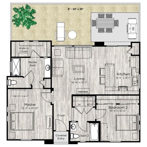 The Retreat Floor Plan at Avilla Paseo, Phoenix, AZ, 85027