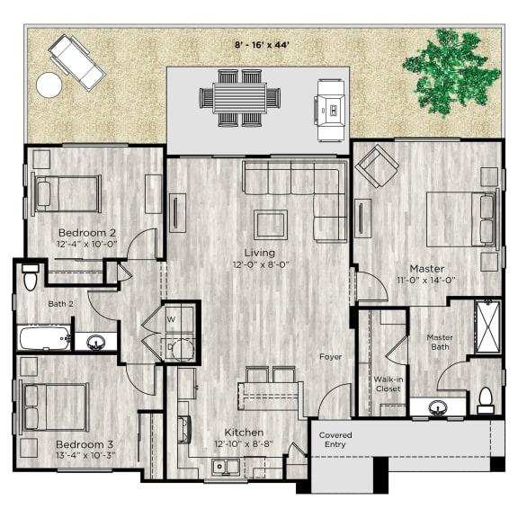 The Haven Floor Plan at Avilla Paseo, Arizona