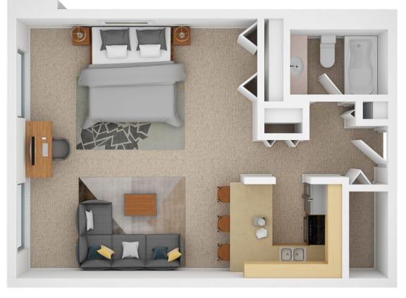 Floor Plan  bachelor suites for rent in edmonton