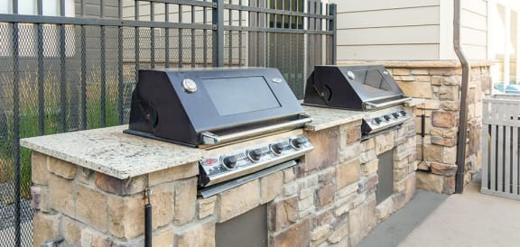 Barbecue And Grilling Station at Parc on CenterApartments& Townhomes, Orem, UT, 84057