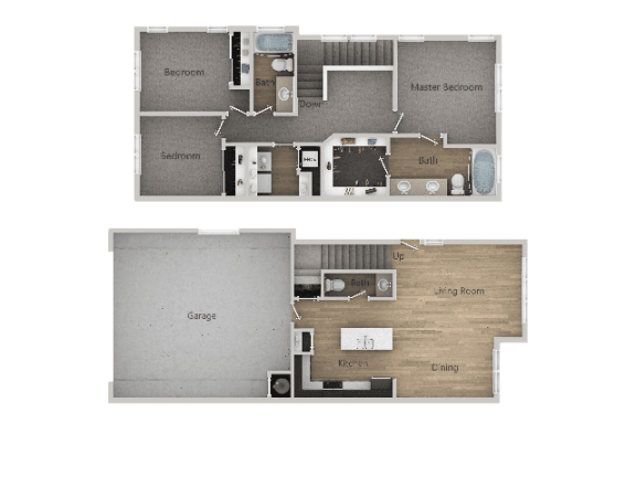 3Bed_2Bath Optimized at Parc on 5th Apartments & Townhomes, American Fork, Utah