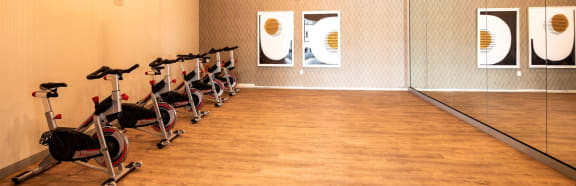 Cycle in Fitness center at Soleil LoftsApartments, Herriman, Utah