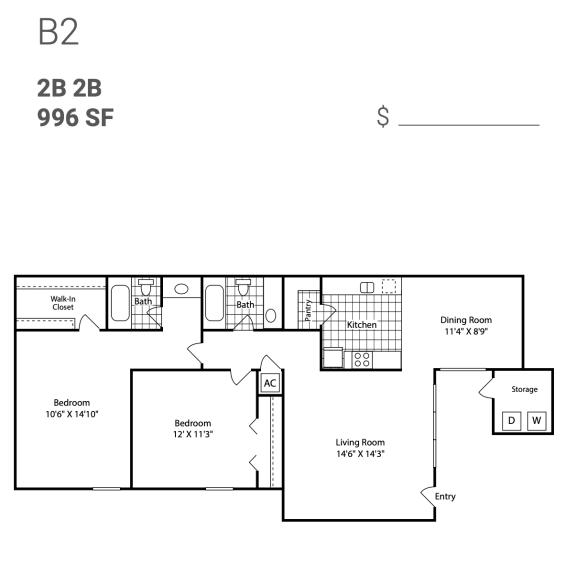 Floor Plan  B2
