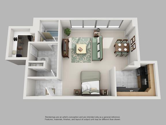Floor Plan  Studio, 1 Bath 593 SF 01