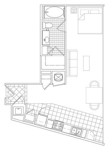Floor Plan  Modern Apartments for Rent in Crystal City Arlington VA