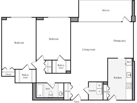 Floor Plan  Apartments for Rent in Crystal City Arlington VA