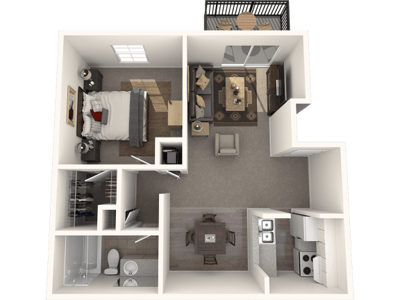 Floor Plan  One Bedroom One Bath Floor Plan |Bay Club